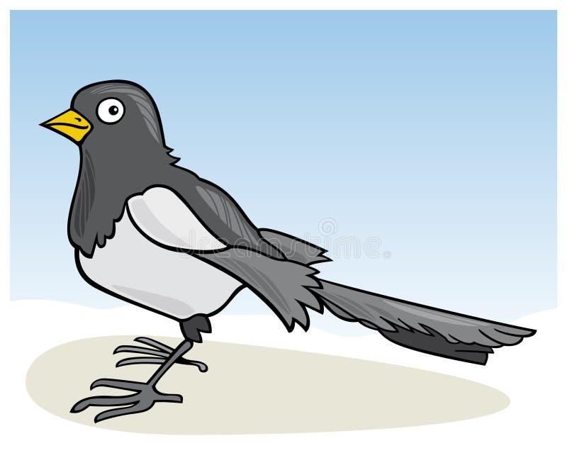 magpie иллюстрация вектора