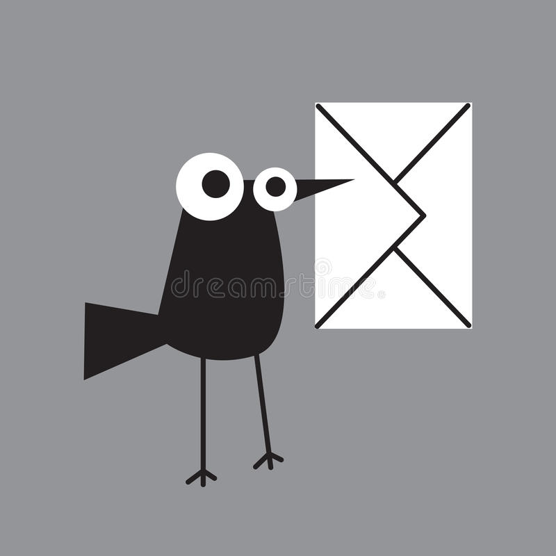 Free Magpie Letter Royalty Free Stock Image - 9428386