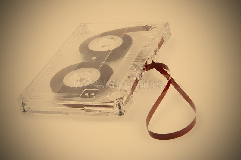 MAGTAPE, Retro, Analog carrier to Information. Plastic, TAPE REEL, Sound Film, Cassette for Record, instagram image style royalty free stock photo