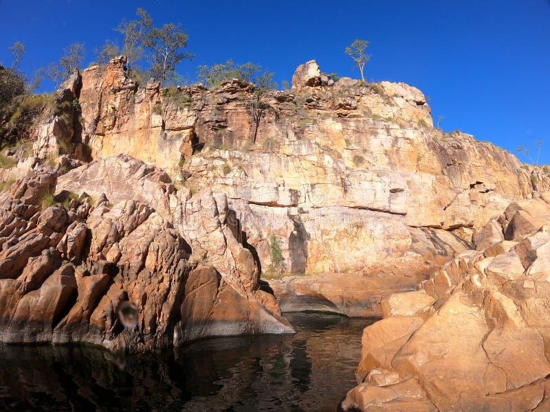 Maguk baja waterhole superior en la garganta de Barramundi en el parque nacional de Kakadu en el Territorio del Norte de Australi imágenes de archivo libres de regalías