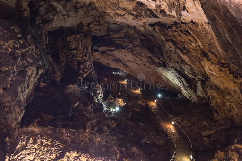 The Magura Cave from north western Bulgaria close to Belogradchik. In Vidin Province royalty free stock photography