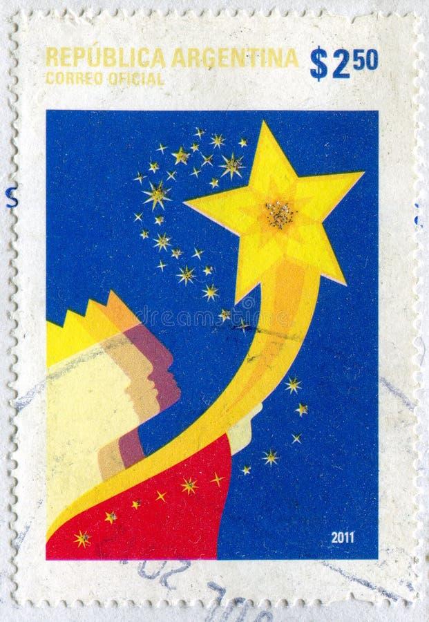 Magus och en stjärna arkivbild