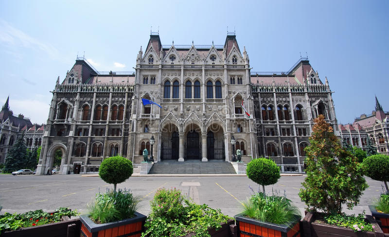 Magyar Parliament. Building in Budapest royalty free stock photography