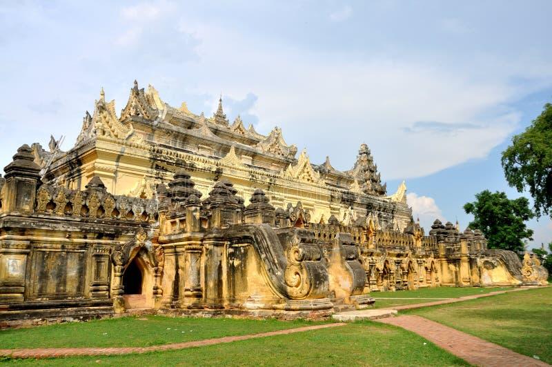 Maha Aungmye Bonzan Monastery Inwa arkivbilder