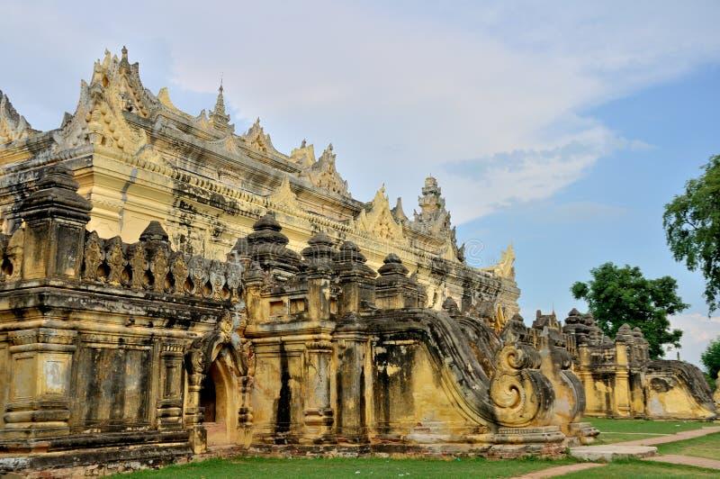 Maha Aungmye Bonzan Monastery Inwa arkivfoto