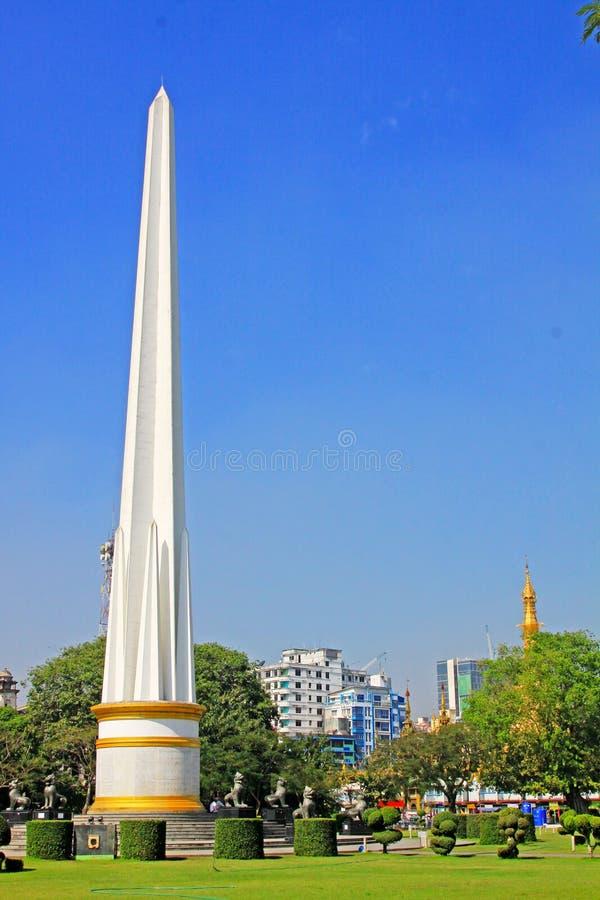 Maha Bandula Park, Yangon, Myanmar. Maha Bandula Park is a public park, located in downtown Yangon, Burma stock photos
