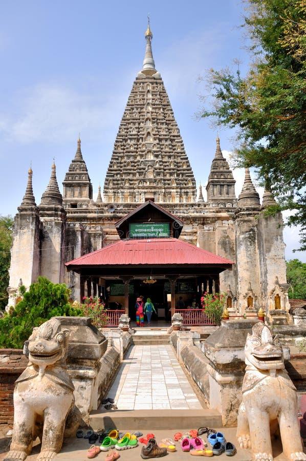 Maha Bodhi Phaya Pagoda dans Bagan, Myanmar photo libre de droits