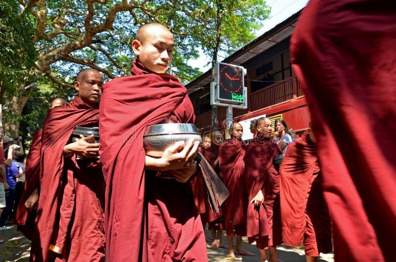 Maha Ganayon Kyaung, Amarapura. zdjęcia royalty free