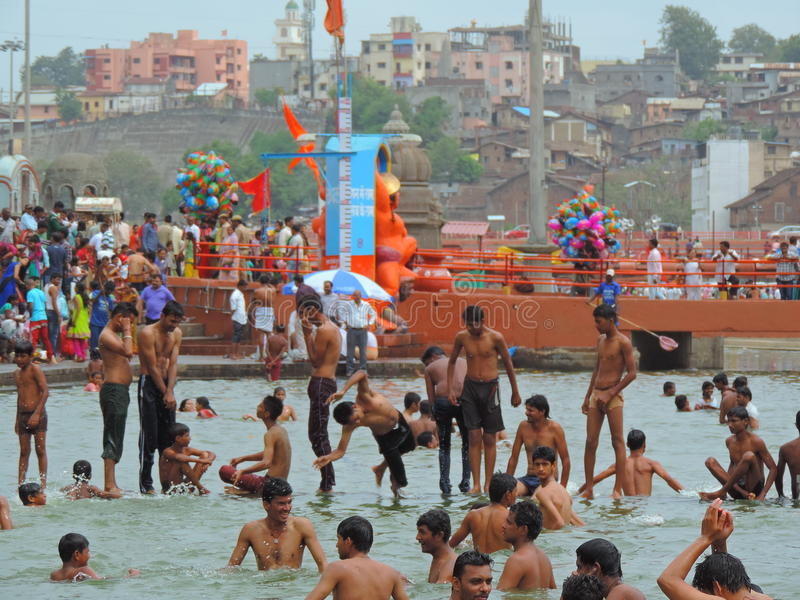 Maha Kumbh Mela 2015 photos libres de droits