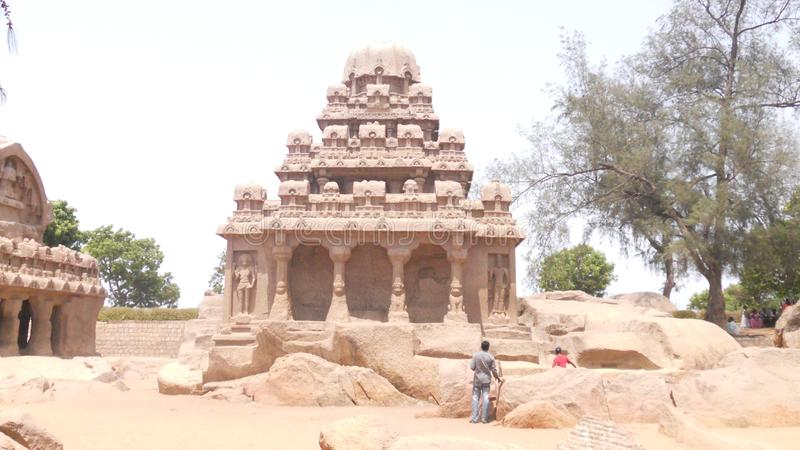 Mahabalipuram the great sclupture sity in sounth Inda royalty free stock photography