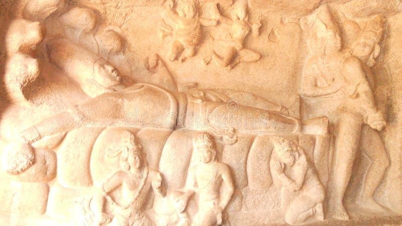 Mahabalipuram the great sclupture sity in sounth Inda stock photos