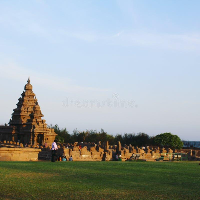 Mahabalipuram, Tamil Nadu, Indien, ein UNESCO-Welterbstandort lizenzfreies stockfoto
