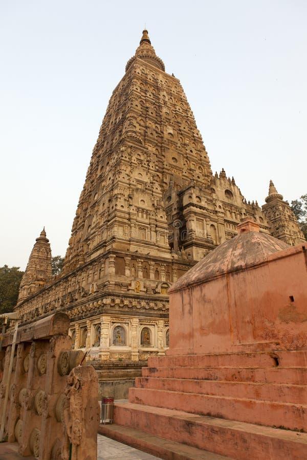 Mahabodhi tempel arkivbild