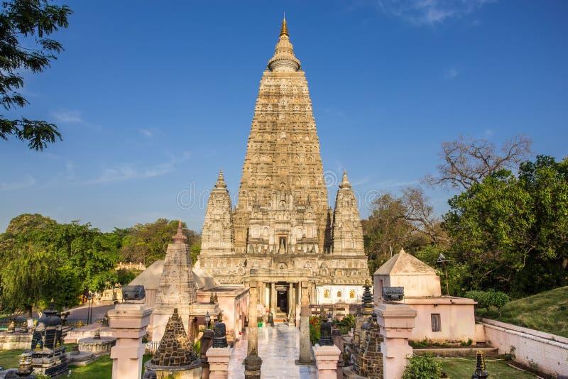 Mahabodhi-Tempel, bodh gaya, Indien lizenzfreies stockbild
