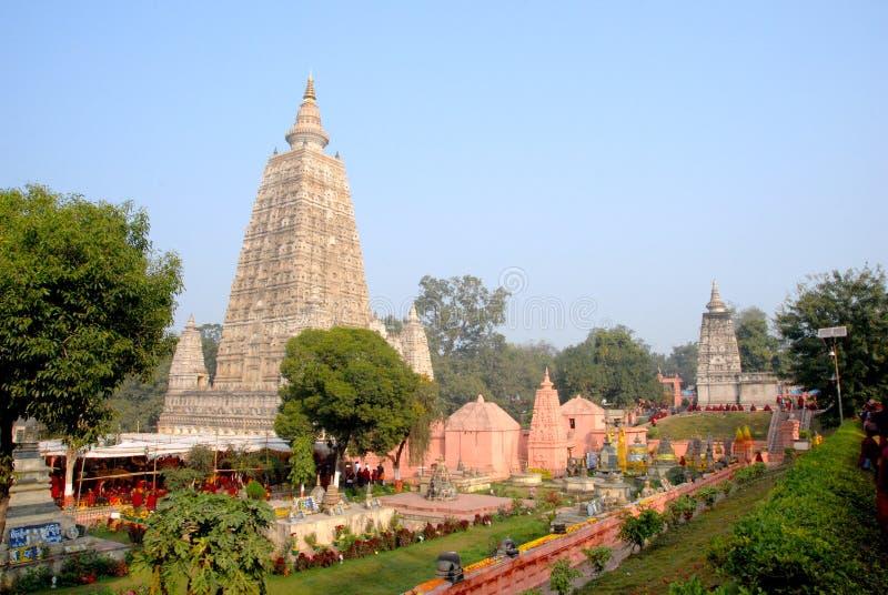 Mahabodhi tempel, Bodhgaya, Bihar india arkivfoto