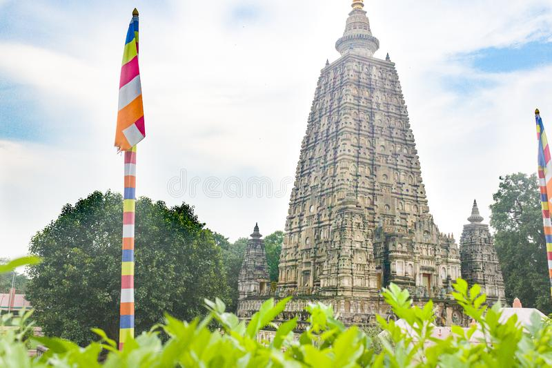 Mahabodhi Temple, Bodh Gaya, Bihar, India. A beautiful picture of Mahabodhi Temple, Bodh Gaya, Bihar, India with awesome  background stock photos