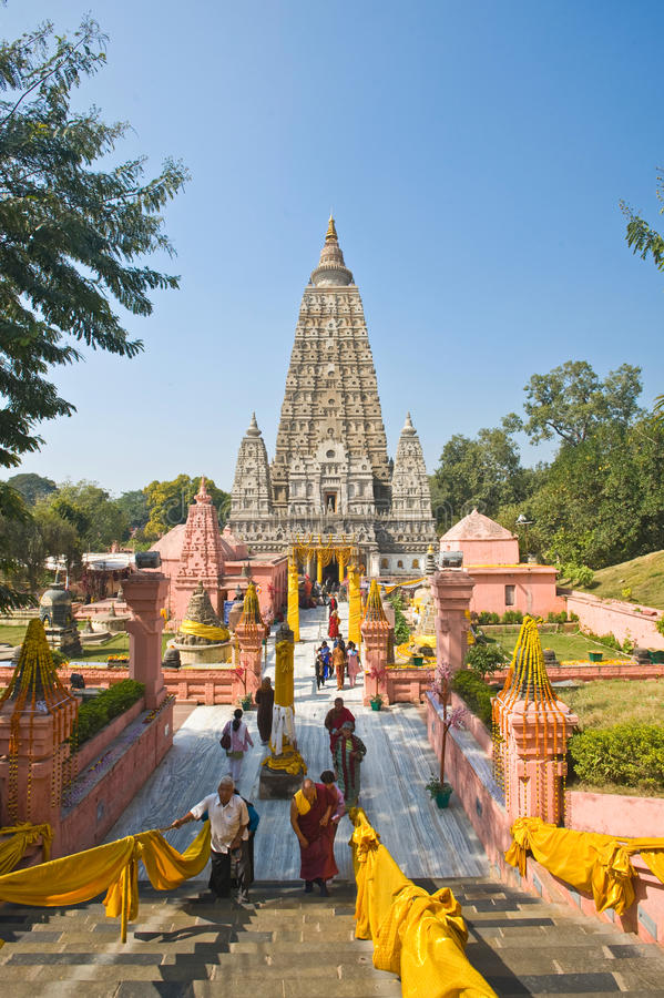 Download Mahabodhi Temple, Bodhgaya editorial photography. Image of landmark - 24148237
