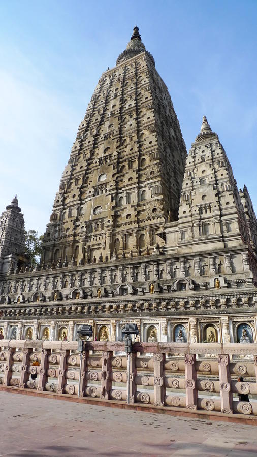 Mahabodhi Temple. A UNESCO World Heritage Site, is a temple in Bodhgaya marks the location where Siddhartha Gautama is said to have attained enlightment to royalty free stock photography