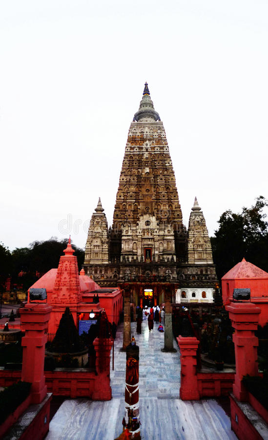Mahabodhi Temple. A UNESCO World Heritage Site, is a temple in Bodhgaya marks the location where Siddhartha Gautama is said to have attained enlightment to royalty free stock photo