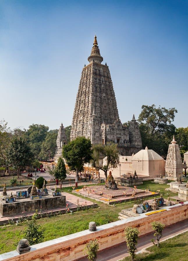 Mahabodhitempel - Unesco-van de Werelderfenis en bedevaart plaats royalty-vrije stock foto
