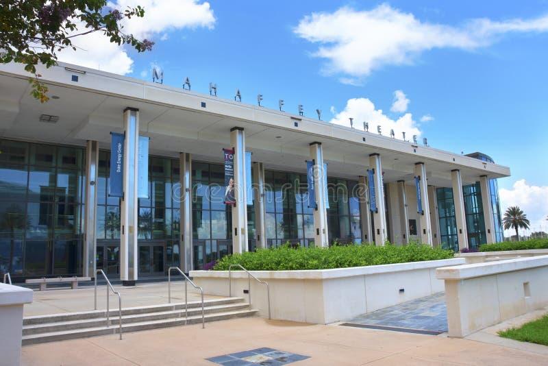 Mahaffeytheater in Heilige Petersburg, Florida, een trefpunt voor muziek, komedie, theater en communautaire gebeurtenissen met ee stock fotografie
