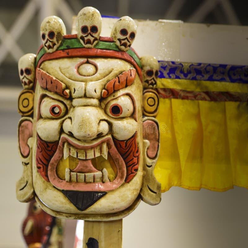 Mahakala,印度和佛教神面具  图库摄影