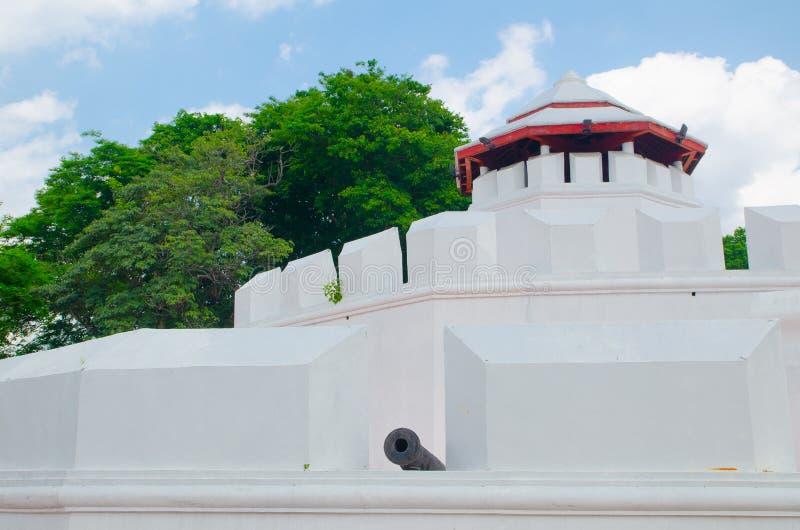 mahakan堡垒是八角型在形状和在三,保卫老被围住的城市两座生存城堡的之第一级 库存图片