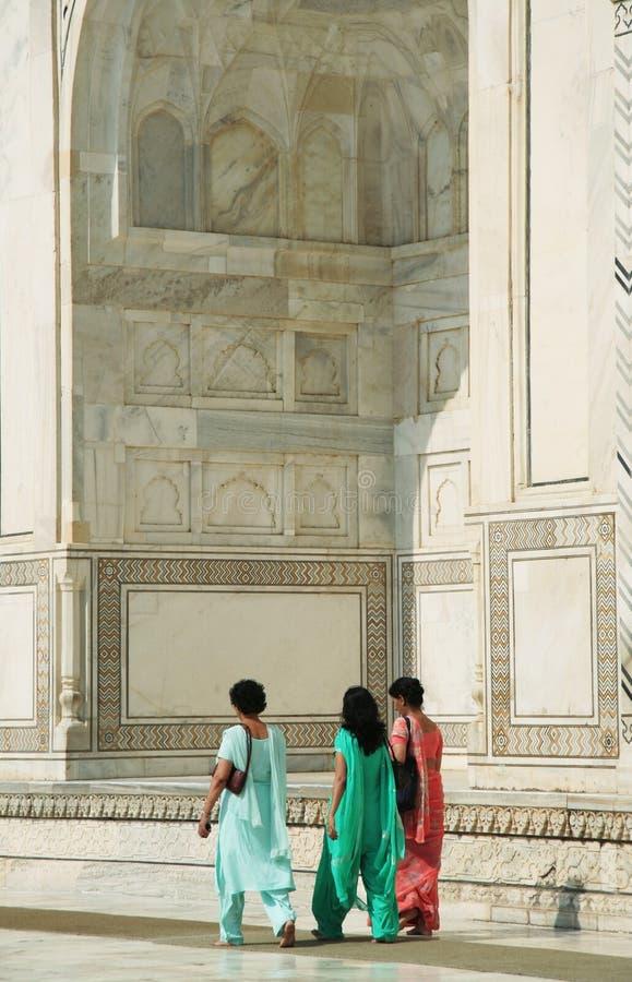 mahal宫殿taj妇女 库存图片