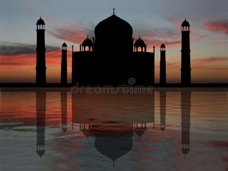 mahal ηλιοβασίλεμα taj ελεύθερη απεικόνιση δικαιώματος