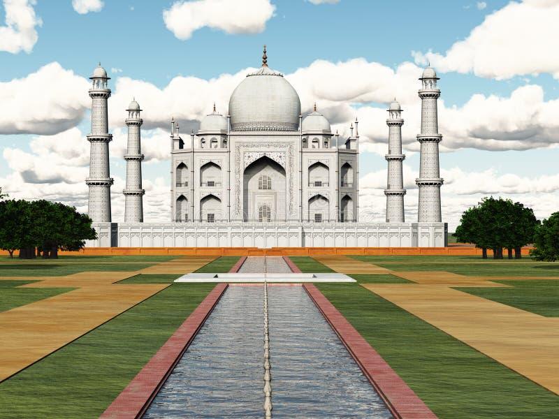 mahal taj της Ινδίας απεικόνιση αποθεμάτων