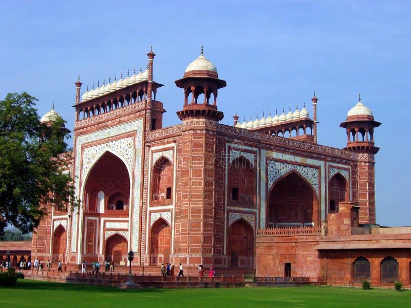 Mahal Taj För Komplicerad Ingång Royaltyfri Bild
