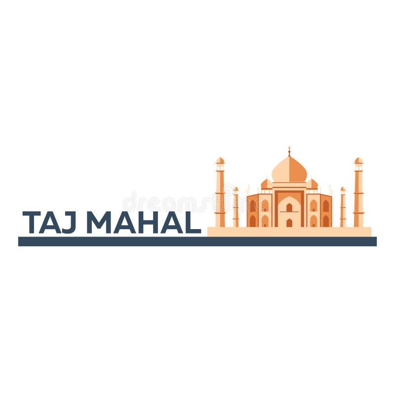 mahal taj _ Indisk arkitektur Modern plan design också vektor för coreldrawillustration vektor illustrationer