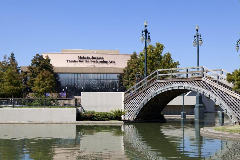 Mahalia Jackson Theater voor de Uitvoerende kunsten stock afbeeldingen