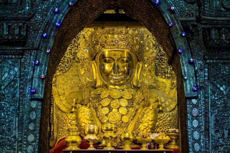 Mahamuni Будда, Мьянма стоковое изображение rf