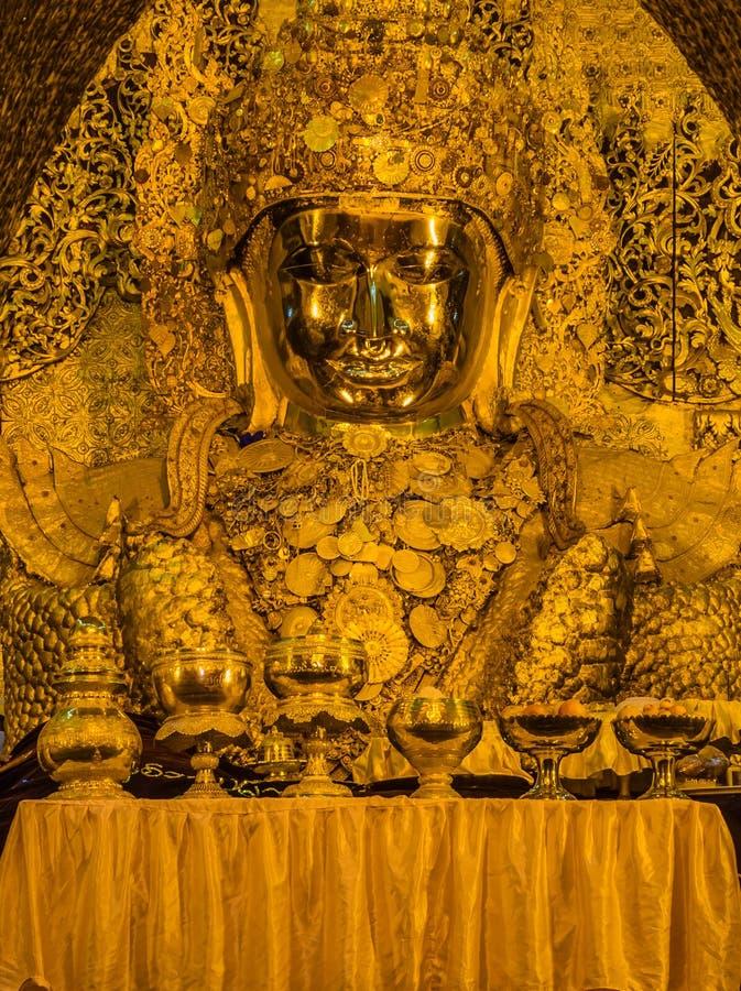 Mahamuni Buddha image in Myanmar royalty free stock photography