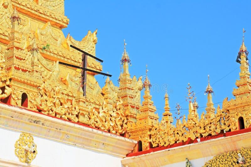 Mahamuni Buddha Temple, Mandalay, Myanmar royalty free stock photos
