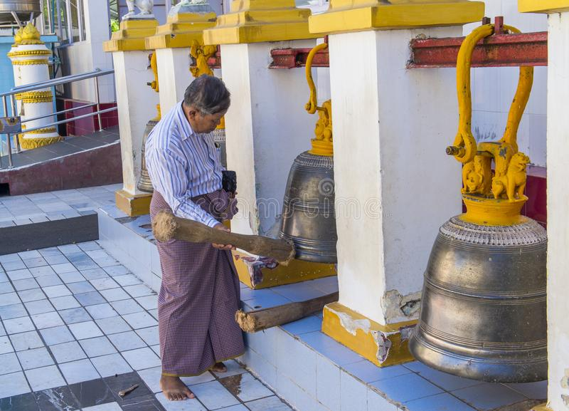 Mahamuni pagoda w Mandalay, Myanmar zdjęcia royalty free