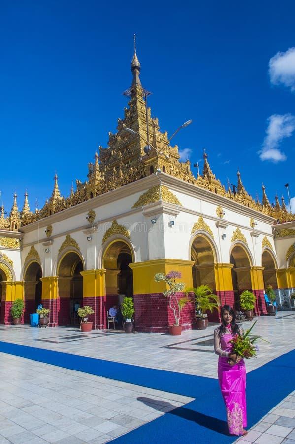 Mahamuni pagoda w Mandalay, Myanmar fotografia royalty free