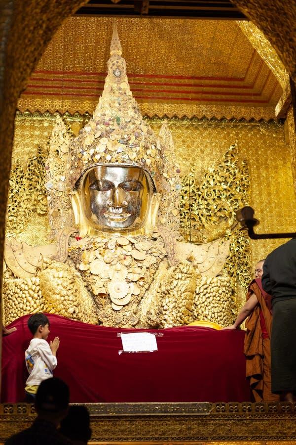 Mahamuni Paya Mandalay fotografia de stock