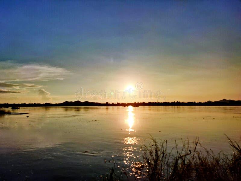 Mahanadi river view at evening sun set. Mahanadi river view at evening sun stock photos