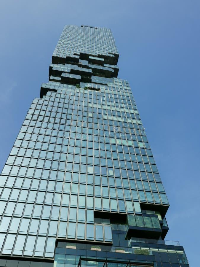 MahaNakhon tower soars into blue sky royalty free stock photography