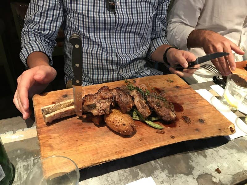 Mahane Yehuda Market Crave Restaurant stockbild