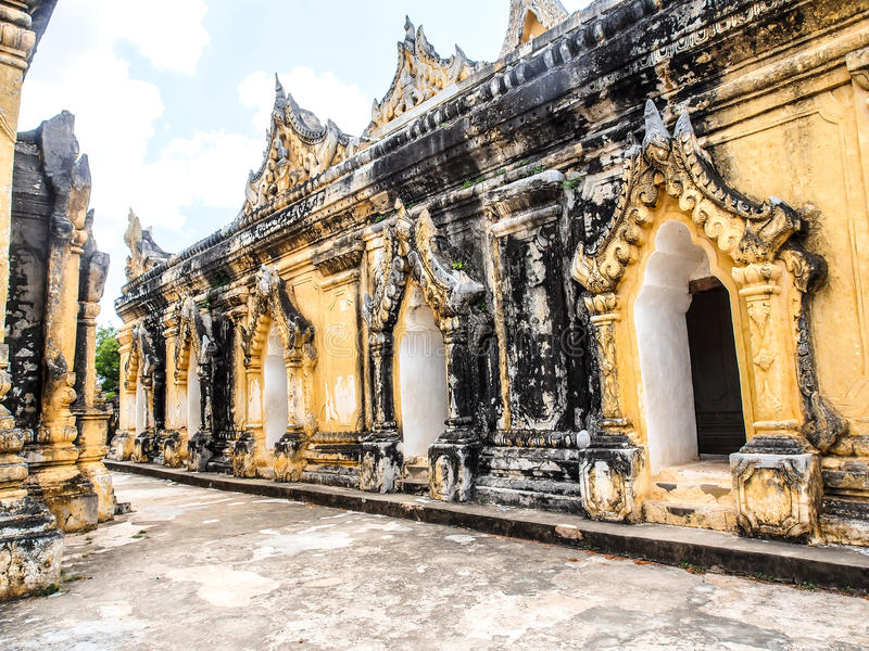 Mahar Aung Mye Bon San monastery, the ancient monastery in Inwa, Mandalay, Myanmar 10 royalty free stock image