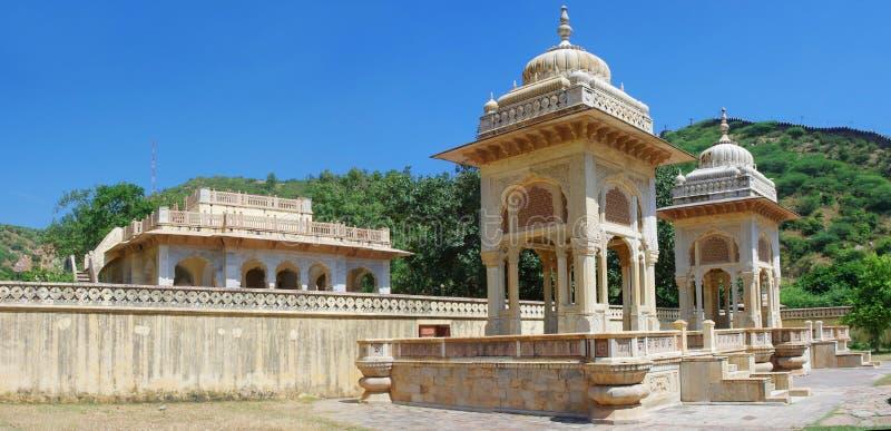 Maharaja Sawai Mansingh II, museumförtroende stadsslotten Gatore Ki Chhatriyan, Jaipur, Indien arkivbilder