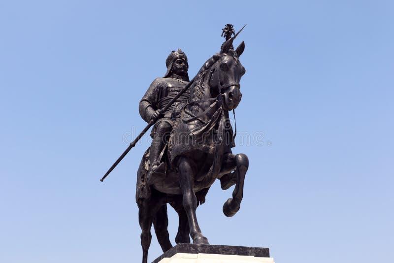 Maharana Pratap纪念品,乌代浦,拉贾斯坦 免版税库存图片