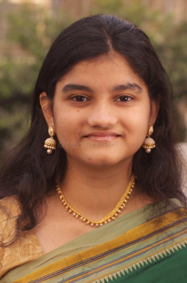 Maharashtrian tradicional Girl-4 fotos de stock royalty free