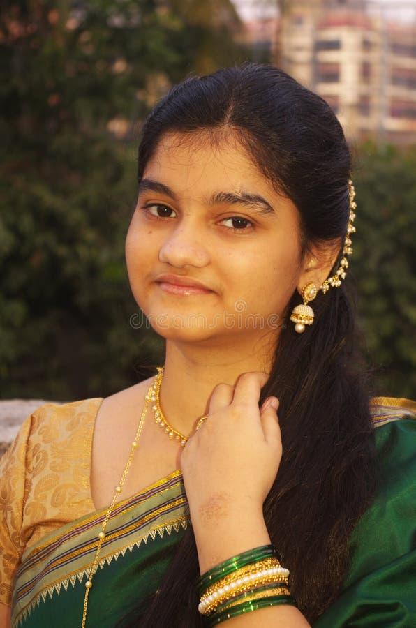 Maharashtrian tradicional Girl-6 fotografía de archivo