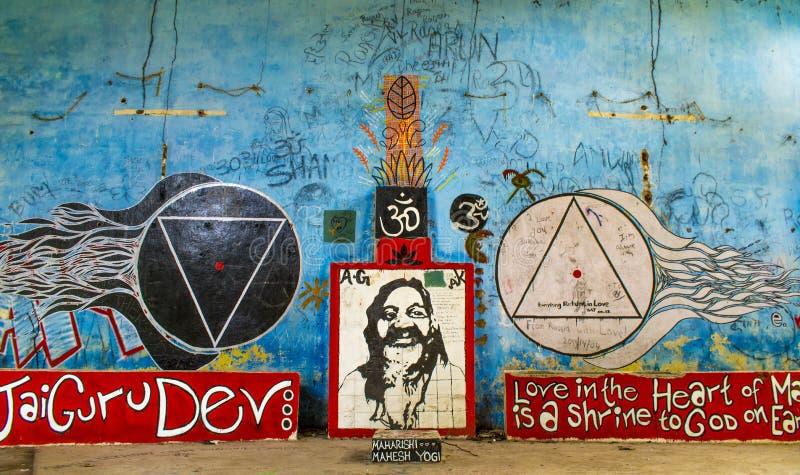 Maharishi Mahesh Yogi royaltyfria bilder