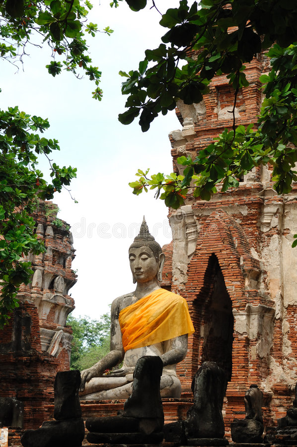 mahathat ayutthaya phra wat Thailand fotografia stock