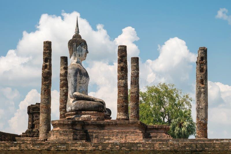 Mahathat tample. Sukhothai Historical Park royalty free stock photo